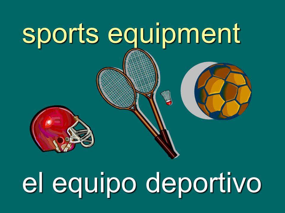 sports equipment el equipo deportivo