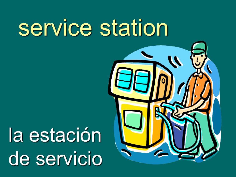 service station la estación de servicio