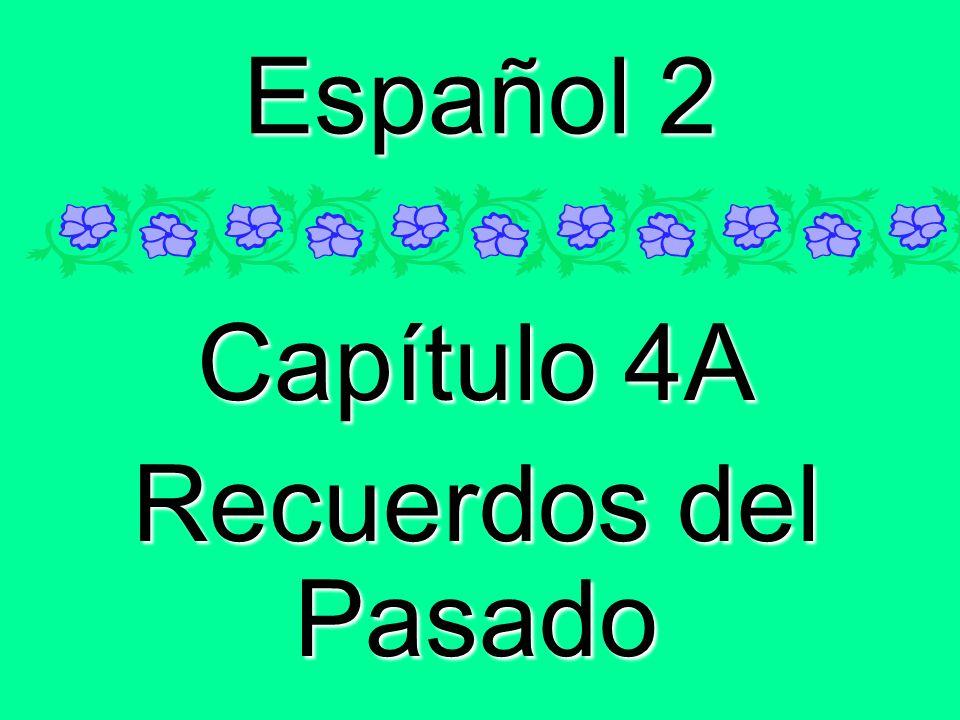 Español 2 Capítulo 4A Recuerdos del Pasado