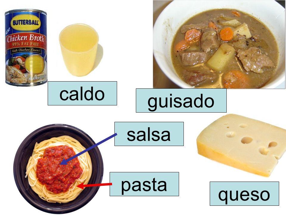 salsa queso caldo guisado pasta