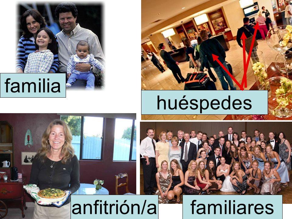 familia familiaresanfitrión/a huéspedes