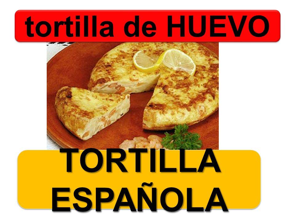 tortilla de HUEVO TORTILLA ESPAÑOLA