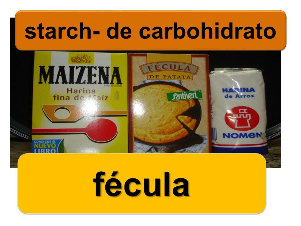 starch- de carbohidrato féculafécula