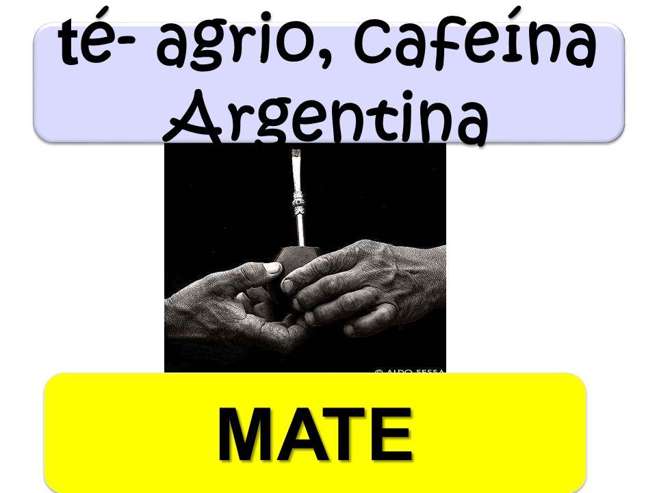 t é- agrio, cafeína Argentina MATEMATE