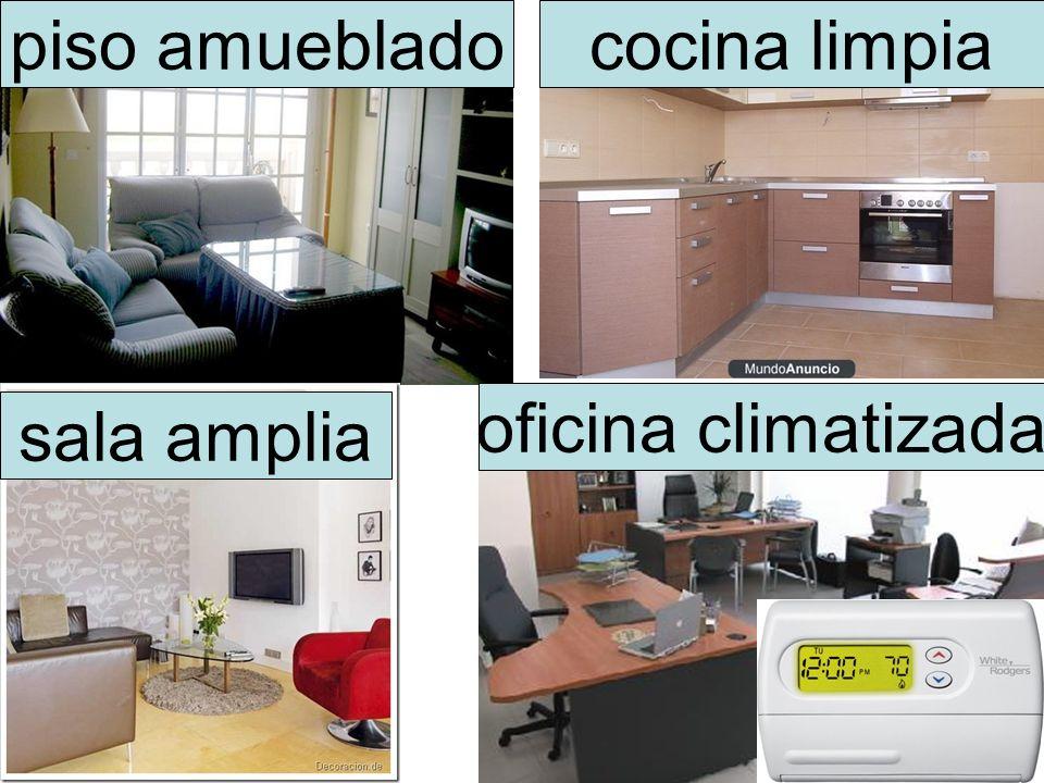 cocina limpiapiso amueblado sala amplia oficina climatizada