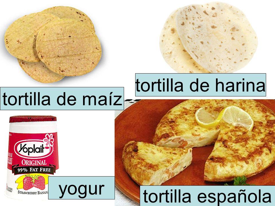 tortilla de maíz tortilla de harina tortilla española yogur