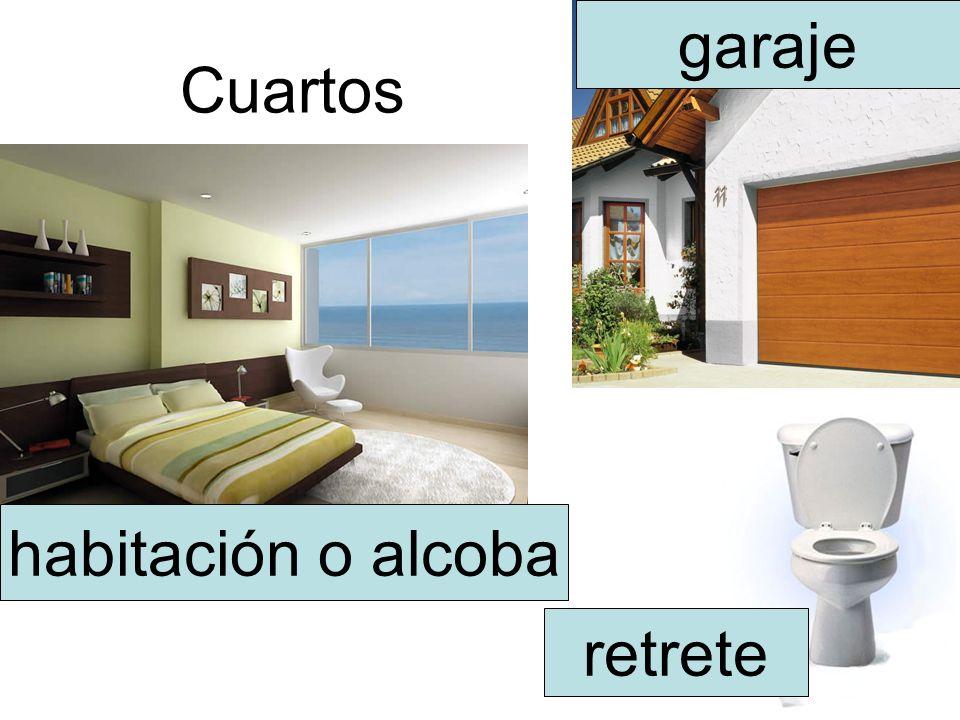 Cuartos habitación o alcoba retrete garaje