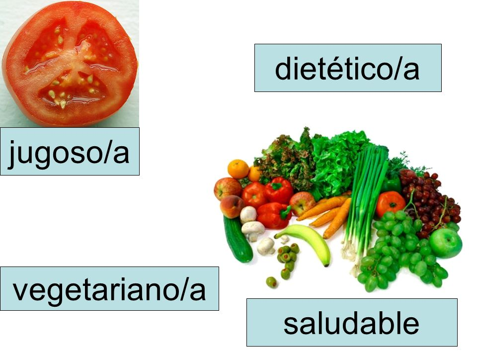 jugoso/a saludable dietético/a vegetariano/a