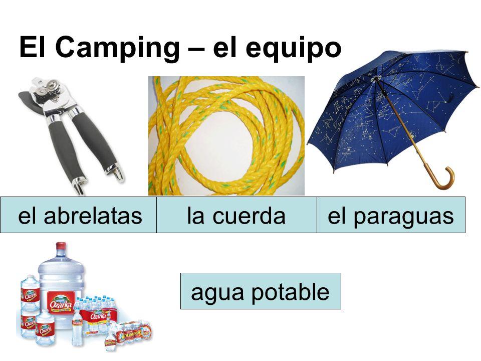 El Camping – el equipo el abrelatasla cuerdael paraguas agua potable