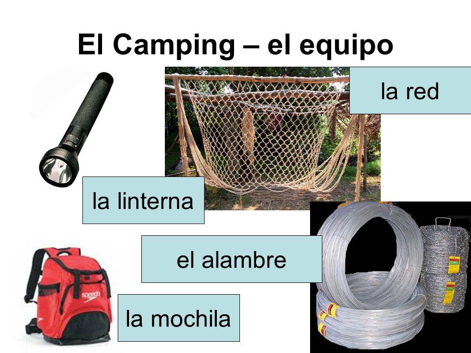 El Camping – el equipo la tienda la ollaEl horno portátil la alfombra