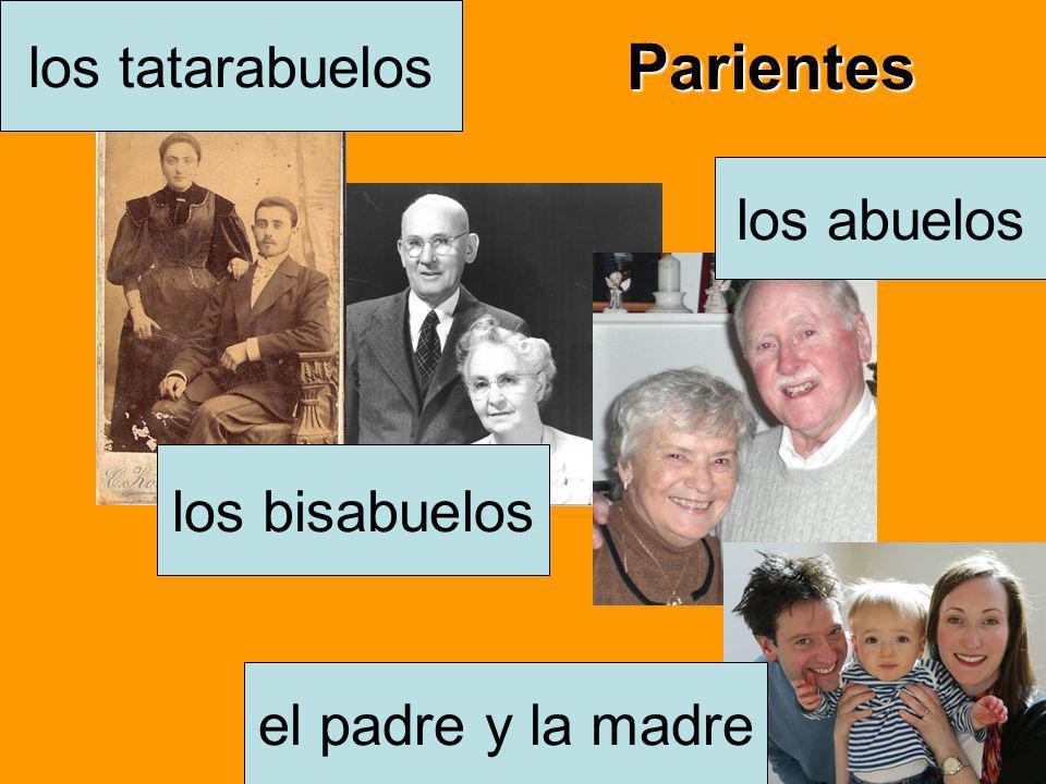 Parientes el padre y la madre los abuelos los bisabuelos los tatarabuelos