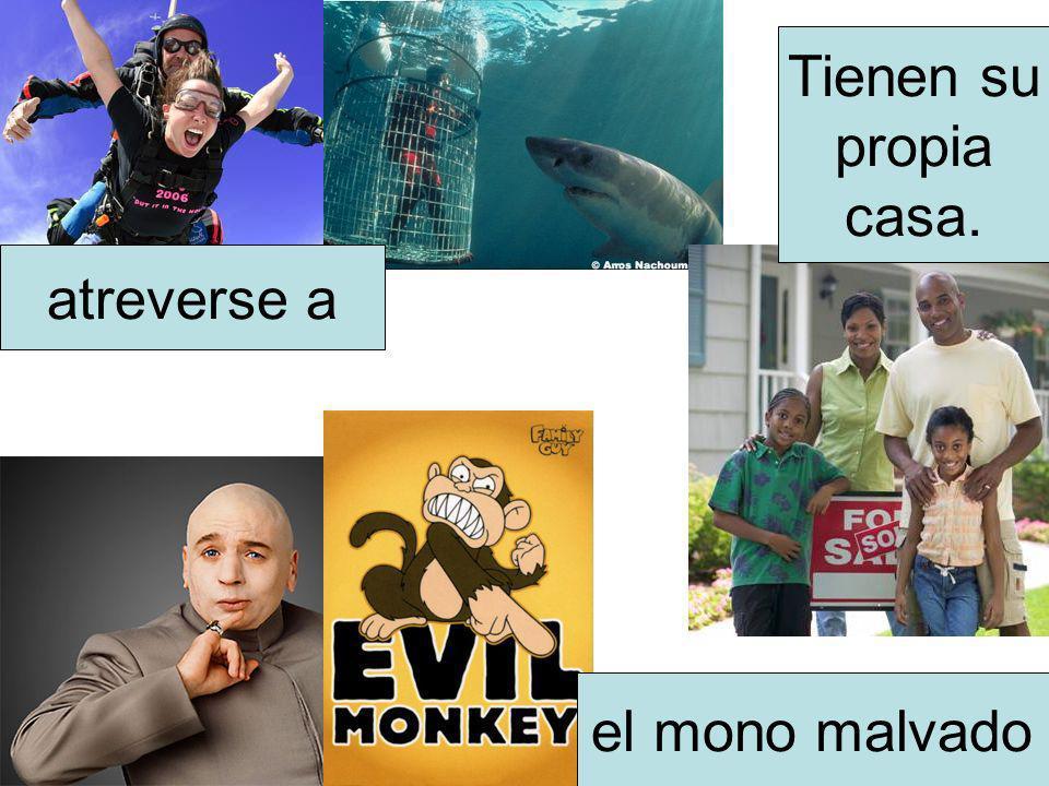 el mono malvado atreverse a Tienen su propia casa.