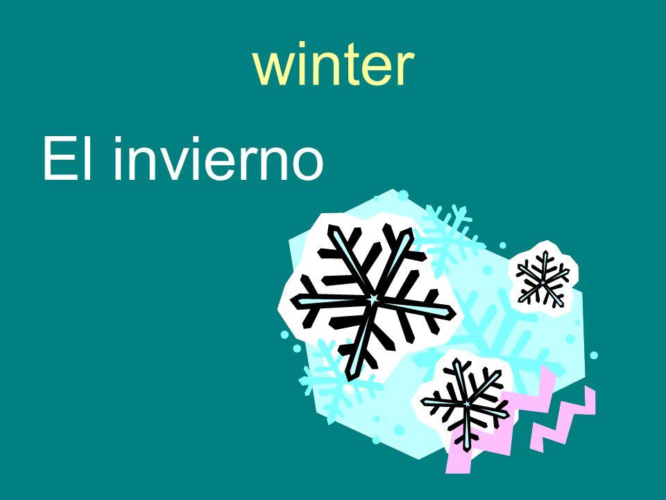 winter El invierno