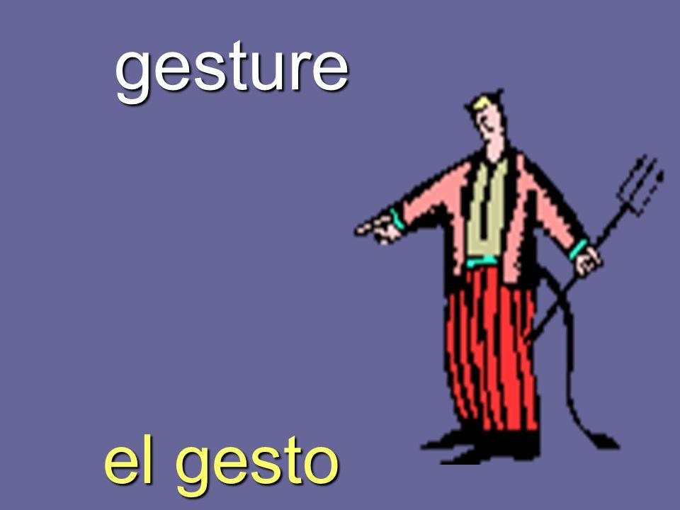gesture el gesto