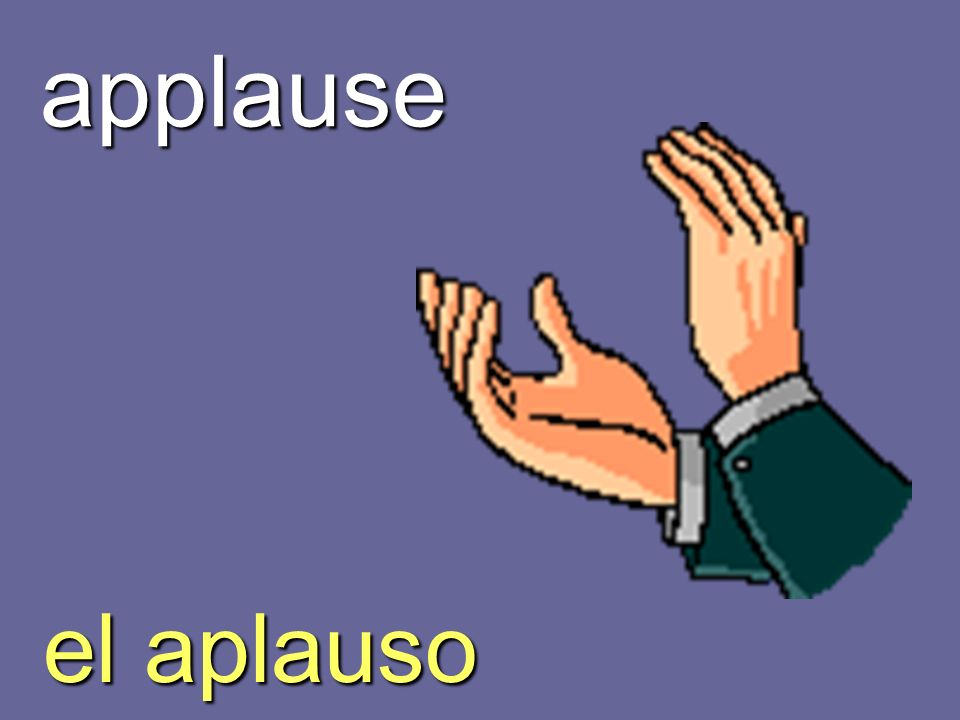 applause el aplauso