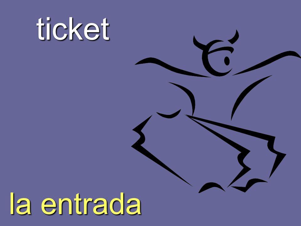 ticket la entrada