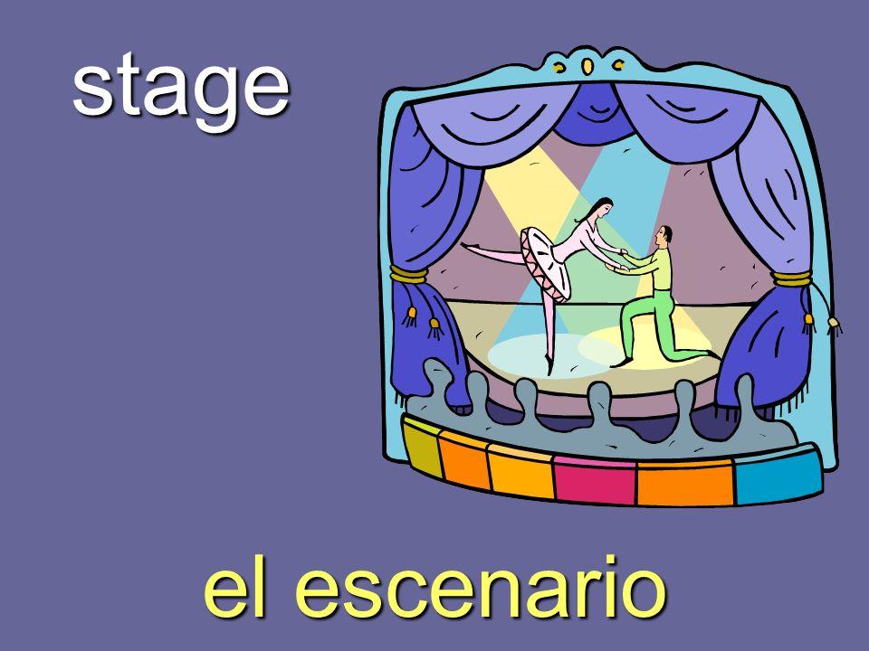 stage el escenario