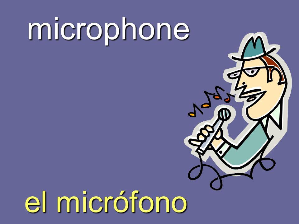 microphone el micrófono