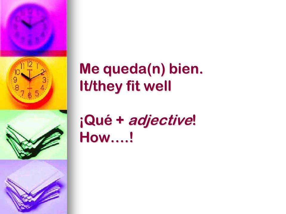 el color the color ¿De qué color? What color? amarillo, -a yellow