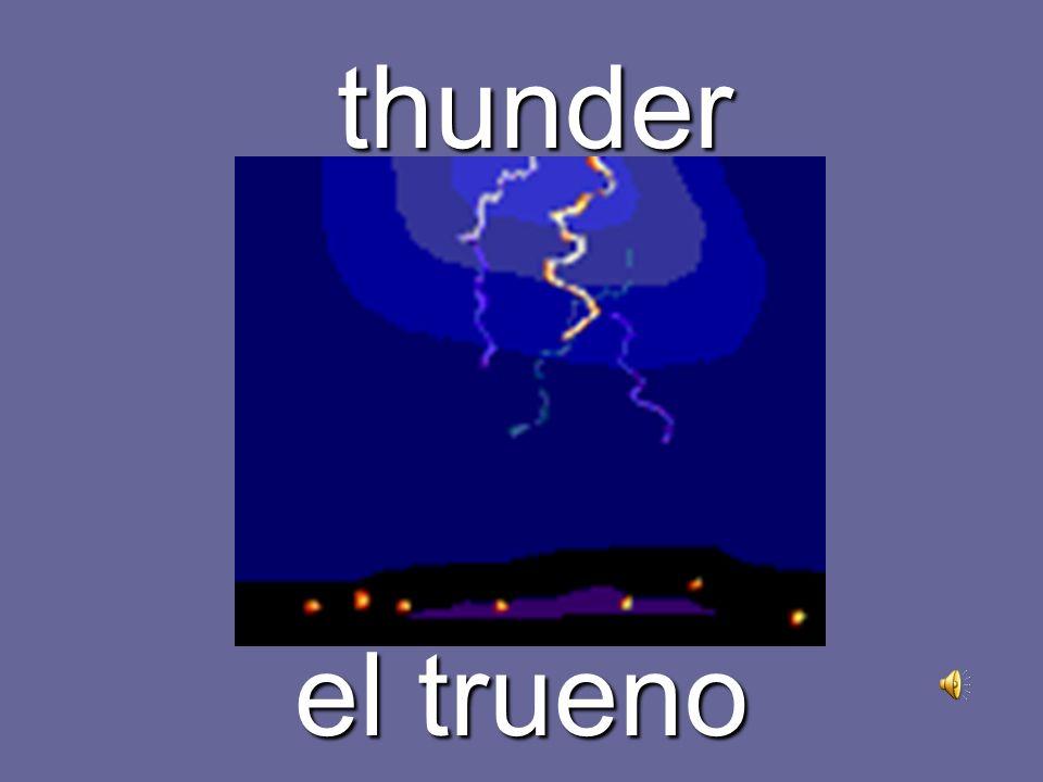 lightning el relámpago, rayo