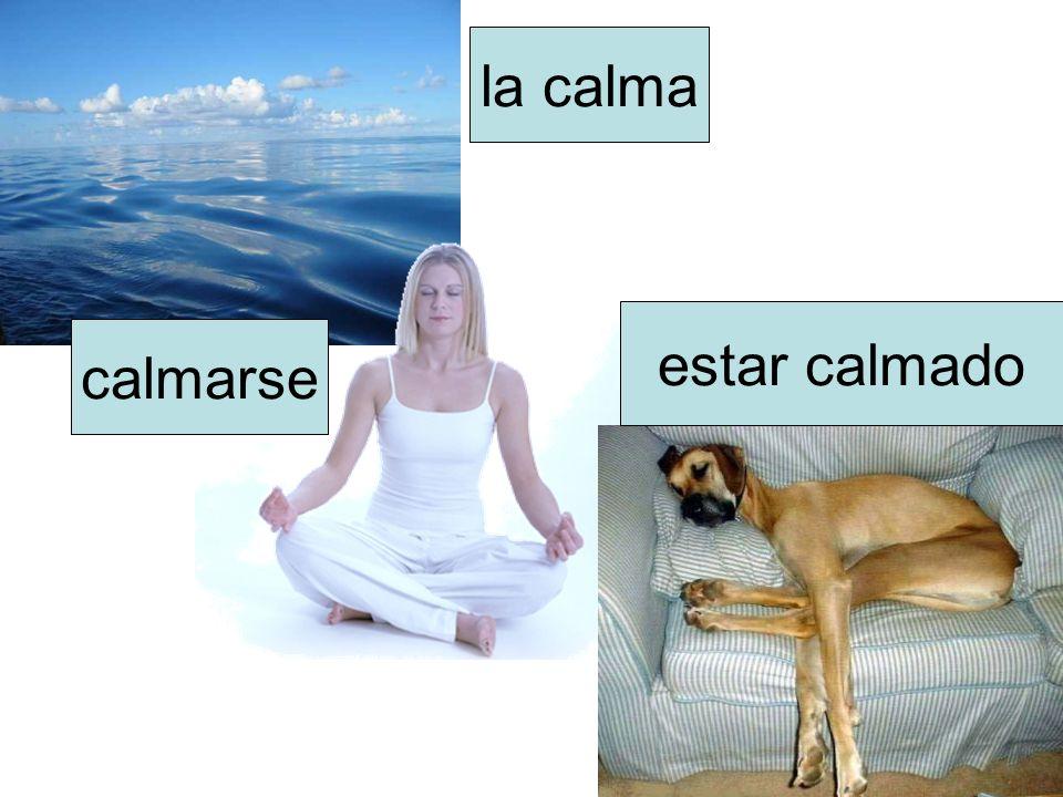 la calma calmarse estar calmado