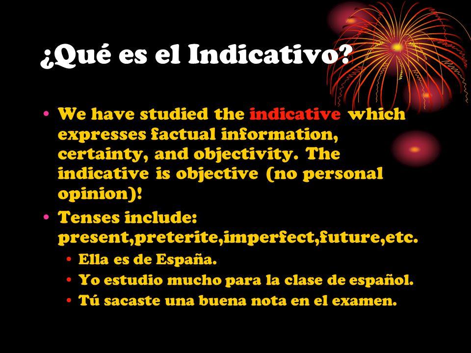 E - Emotion When the main verb implies emotion, the subjunctive is used with the dependent verb Common verbs are: sentir(e-ie), lamentar, alegrarse de, temer, tener miedo de, (gustar, sorprender, molestar, preocupar, entristecer, enojar, etc.