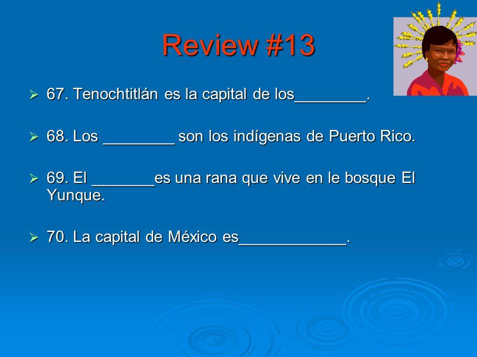 Review #12 62.¿Cómo se forma el presente progresivo.