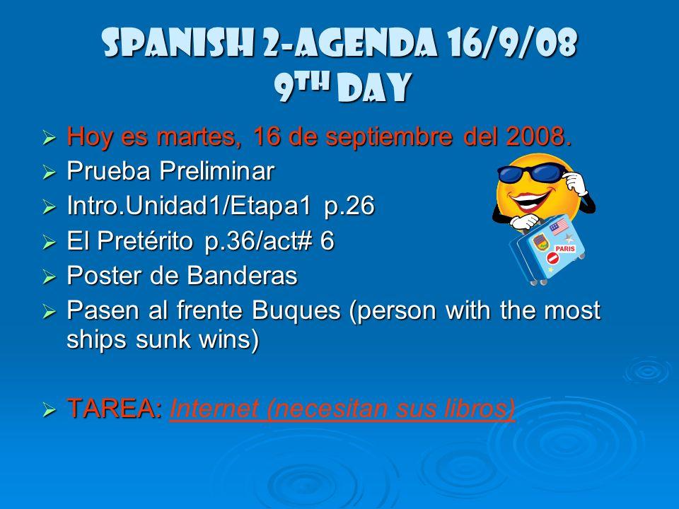 Cuadernos Calendario/TAREA (HW) Agenda/Enfoque Agenda/Enfoque Grámatica Grámatica Trabajo en clase Trabajo en clase Apuntes Apuntes Volantes Volantes