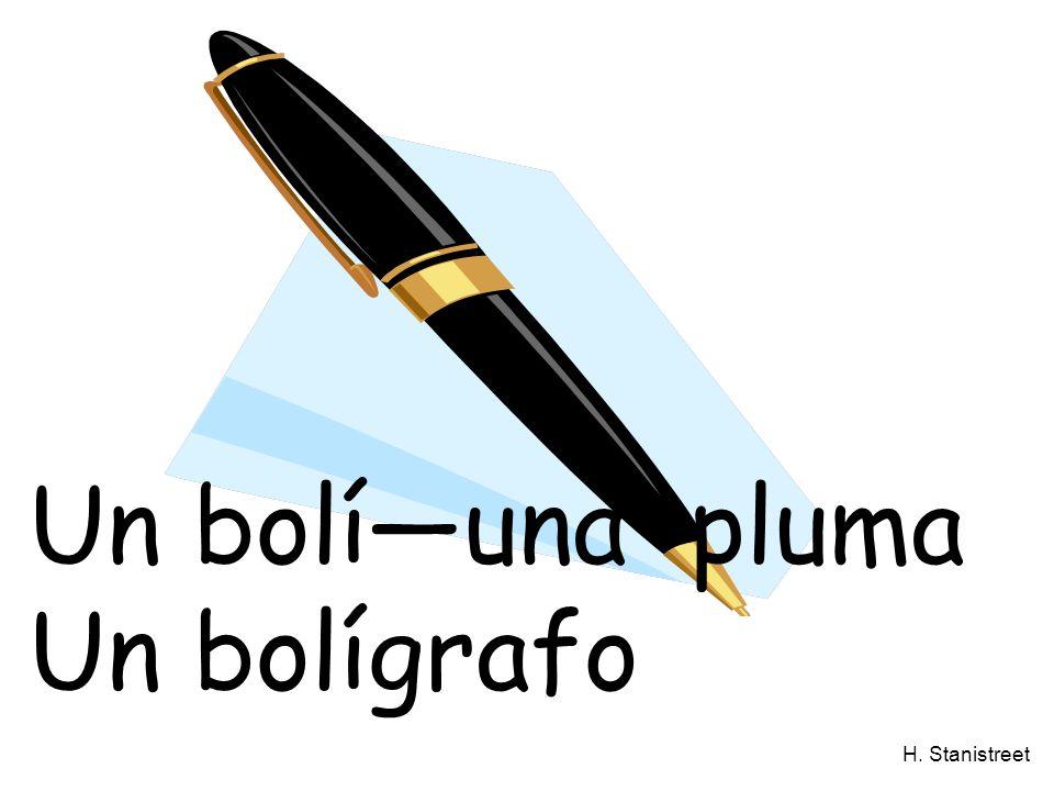 H. Stanistreet Un bolíuna pluma Un bolígrafo