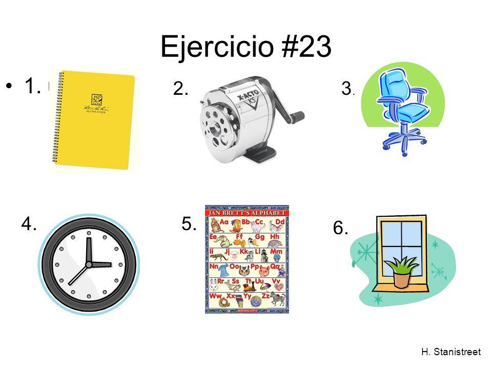 H. Stanistreet Ejercicio #23 1. uUUna 2.3.3. 4.5. 6.