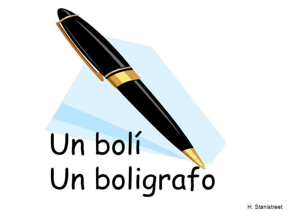 H. Stanistreet Un bolí Un boligrafo
