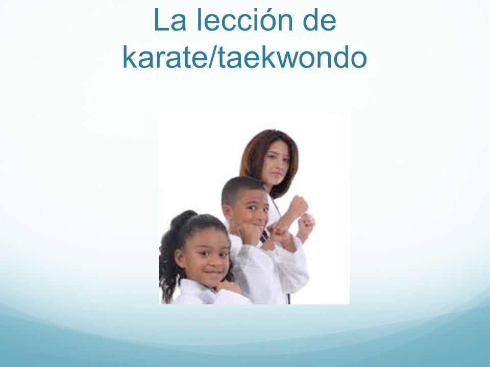 La lección de karate/taekwondo