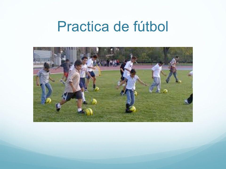 Practica de fútbol