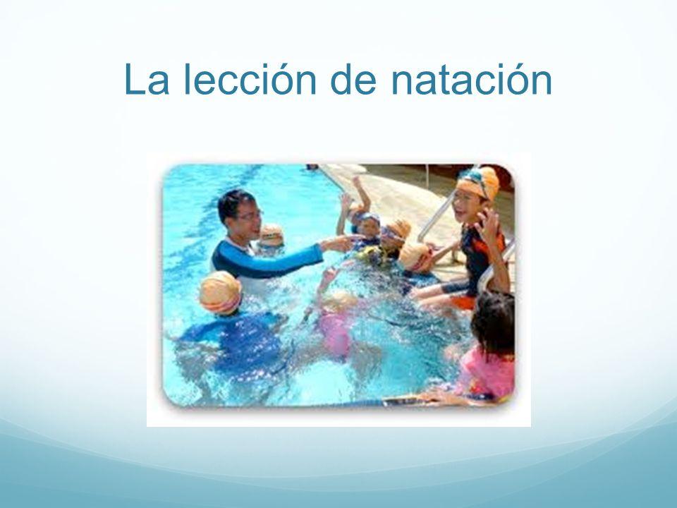 La lección de natación