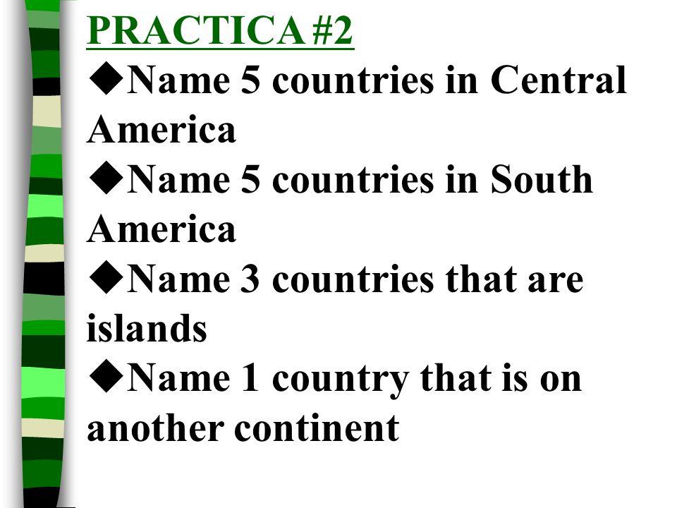 PRACTICA #1 De dónde eres? Soy de ________________________ Mi familia es de _________________