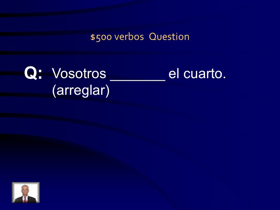 $400 verbos Answer A: limpias
