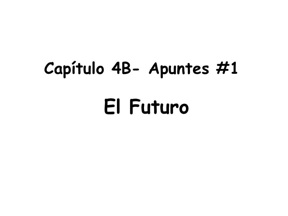 Capítulo 4B- Apuntes #1 El Futuro