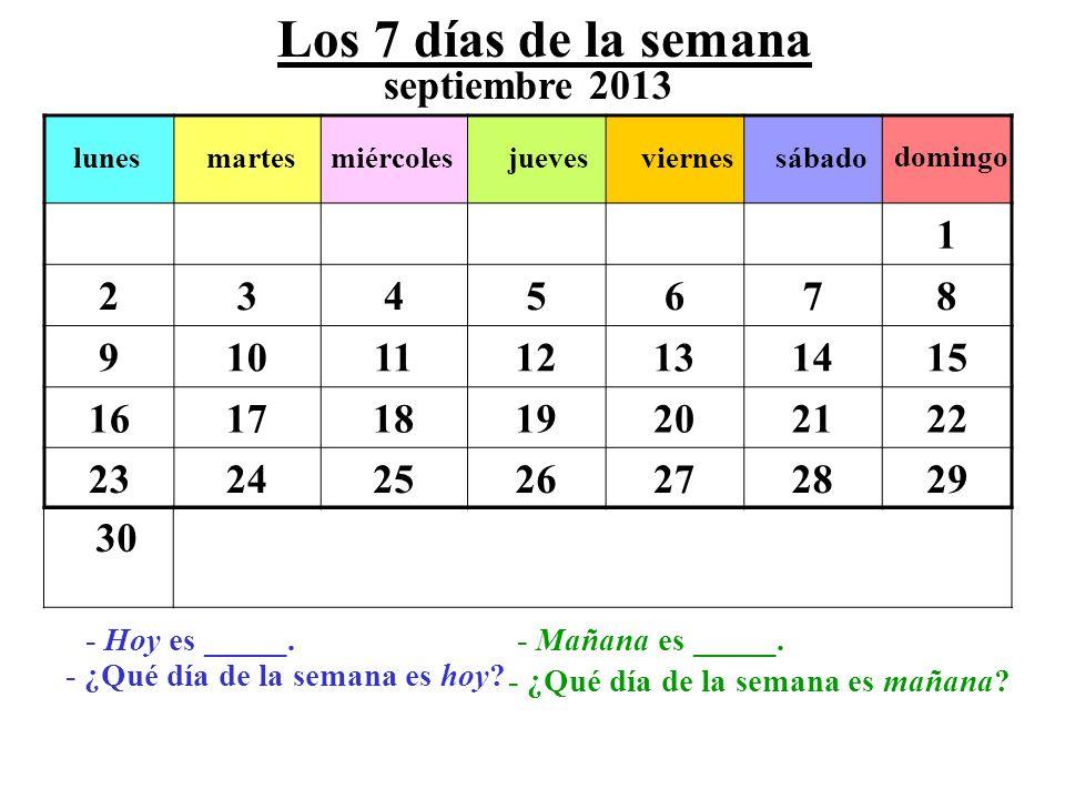 Las 4 Estaciones del Año septiembreoctubrenoviembre el otoño diciembreenerofebrero el invierno marzoabrilmayo juniojulioagosto la primavera el verano