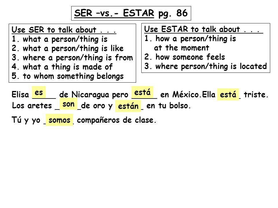 SABER vs.CONOCER pg. 56 SABER means to know... 1.