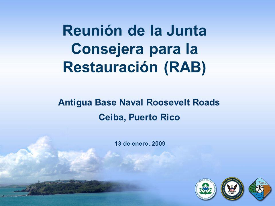 Reunión de la Junta Consejera para la Restauración (RAB) Antigua Base Naval Roosevelt Roads Ceiba, Puerto Rico 13 de enero, 2009