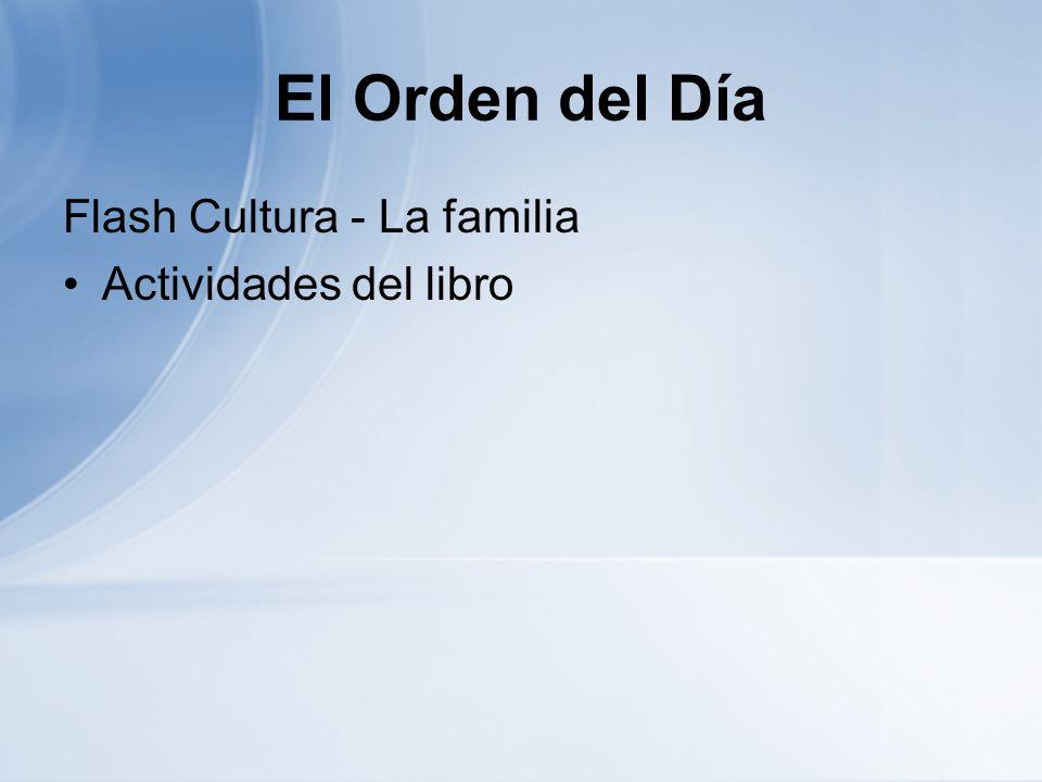 El Orden del Día Flash Cultura - La familia Actividades del libro