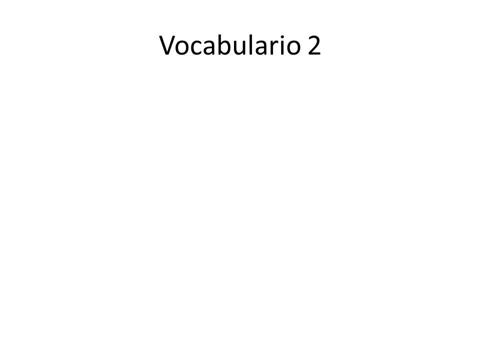 Vocabulario 2