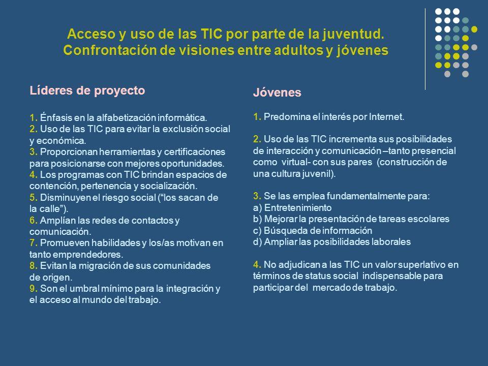 Acceso y uso de las TIC por parte de la juventud.
