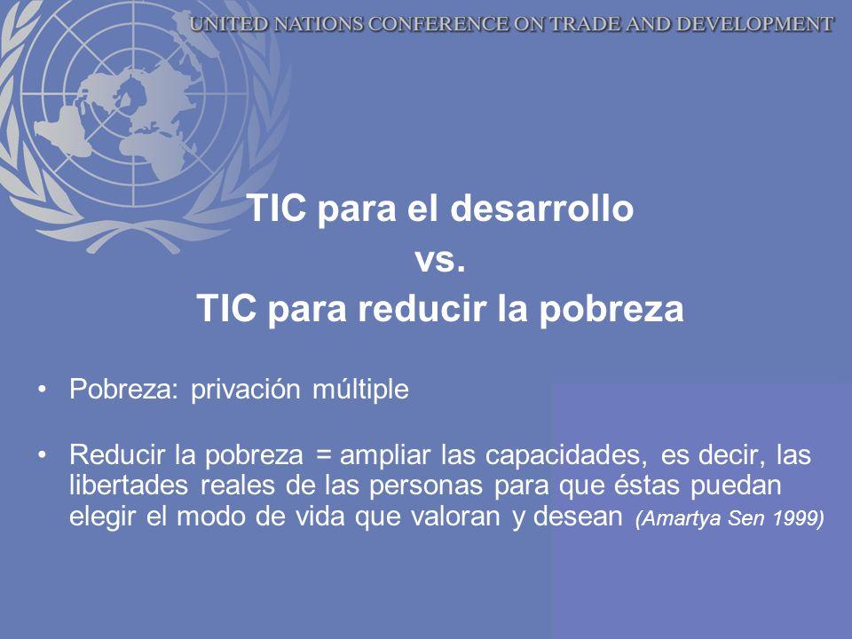 TIC para el desarrollo vs.