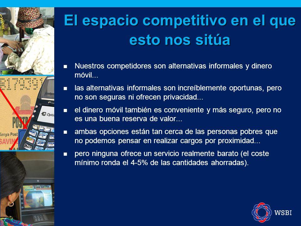 Nuestros competidores son alternativas informales y dinero móvil...