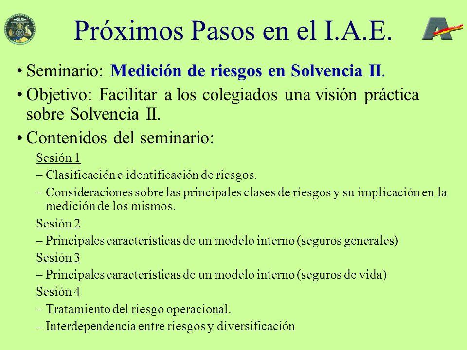 Seminario: Medición de riesgos en Solvencia II.