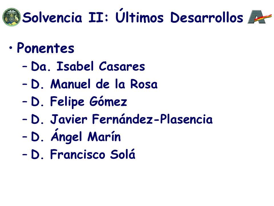 Ponentes –Da. Isabel Casares –D. Manuel de la Rosa –D.