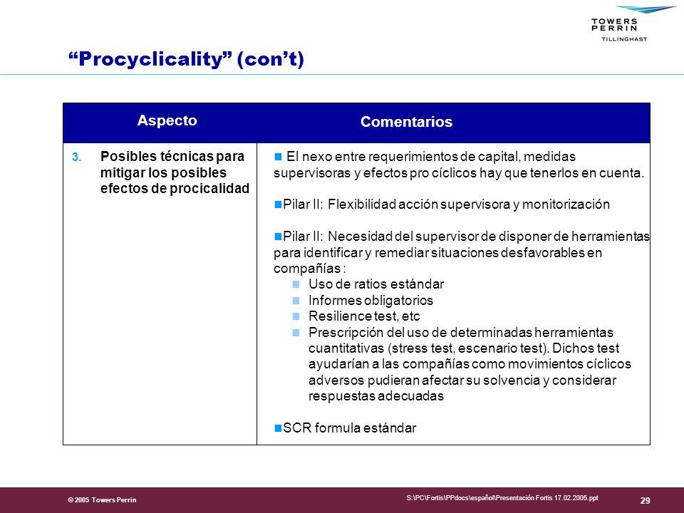 © 2005 Towers Perrin S:\PC\Fortis\PPdocs\español\Presentación Fortis 17.02.2005.ppt 29 3.