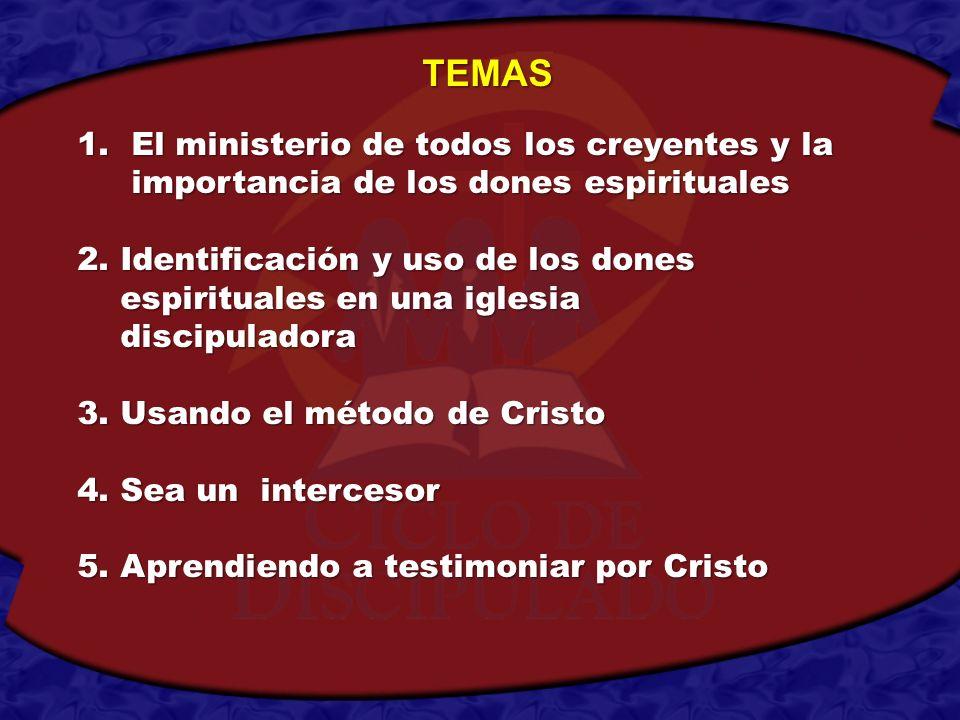 1.El ministerio de todos los creyentes y la importancia de los dones espirituales 2. Identificación y uso de los dones espirituales en una iglesia esp