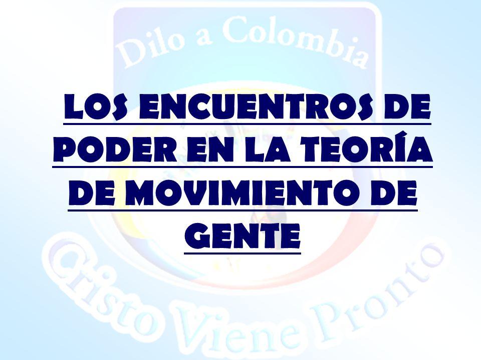 LOS ENCUENTROS DE PODER EN LA TEORÍA DE MOVIMIENTO DE GENTE